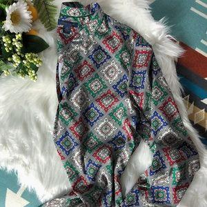 Tommy Hilfiger Long Sleeved patterned Blouse